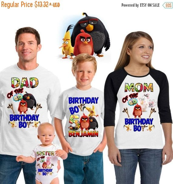 15 OFF Angry Birds birthday shirtangry birds shirt Angry Birds