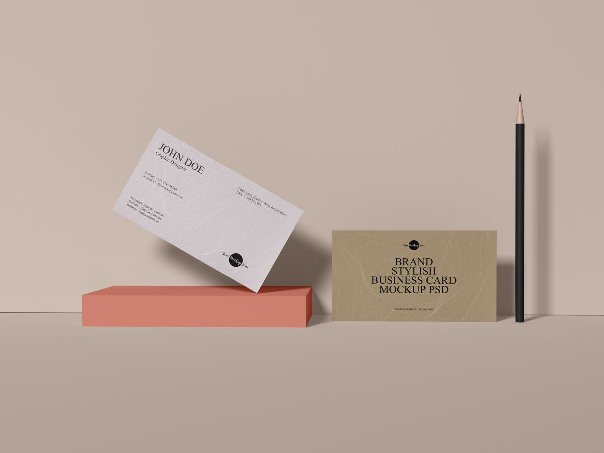 Free Brand Business Card Mockup Create An Elegant Presentation For Your Packaging Design Business Cards Mockup Psd Business Card Mock Up Stylish Business Cards