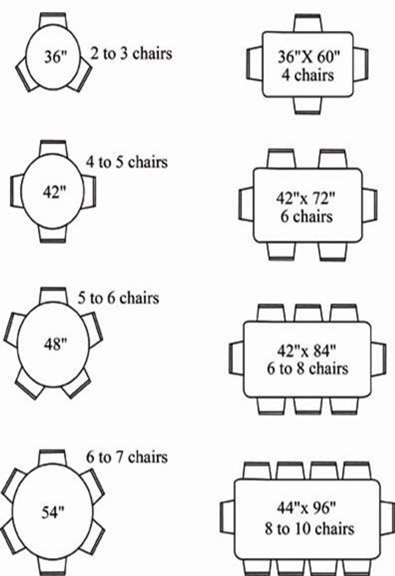 Standard Dining Table Sizes Off 56, Standard Dining Room Table Size