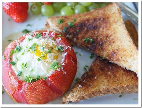 Stuffed Breakfast Tomatoes