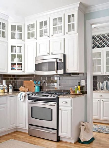 Trendy Kitchen Corner Cabinet Diy Subway Tiles 52+ Ideas ...