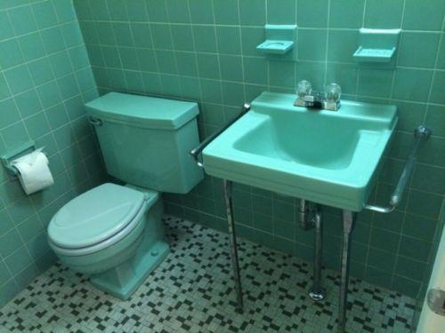 American Standard Aqua Green Vintage Porcelain Bathroom Sink Toilet Tile |  EBay