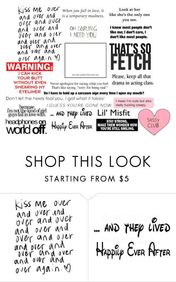 """""""Quotes #1"""" by imperfectionitst244 ❤ liked on Polyvore featuring INDIE HAIR, Love Quotes Scarves, Theory and Disney"""
