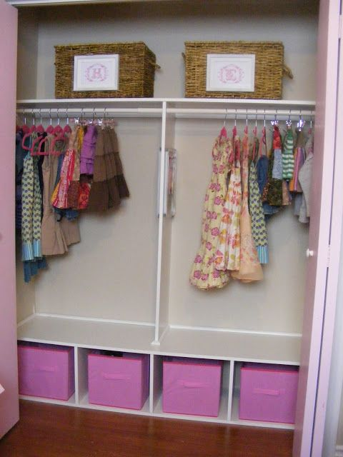 An Organized And Girly Closet For Two Shared Girls Room Shared Girls Bedroom Girls Closet Organization