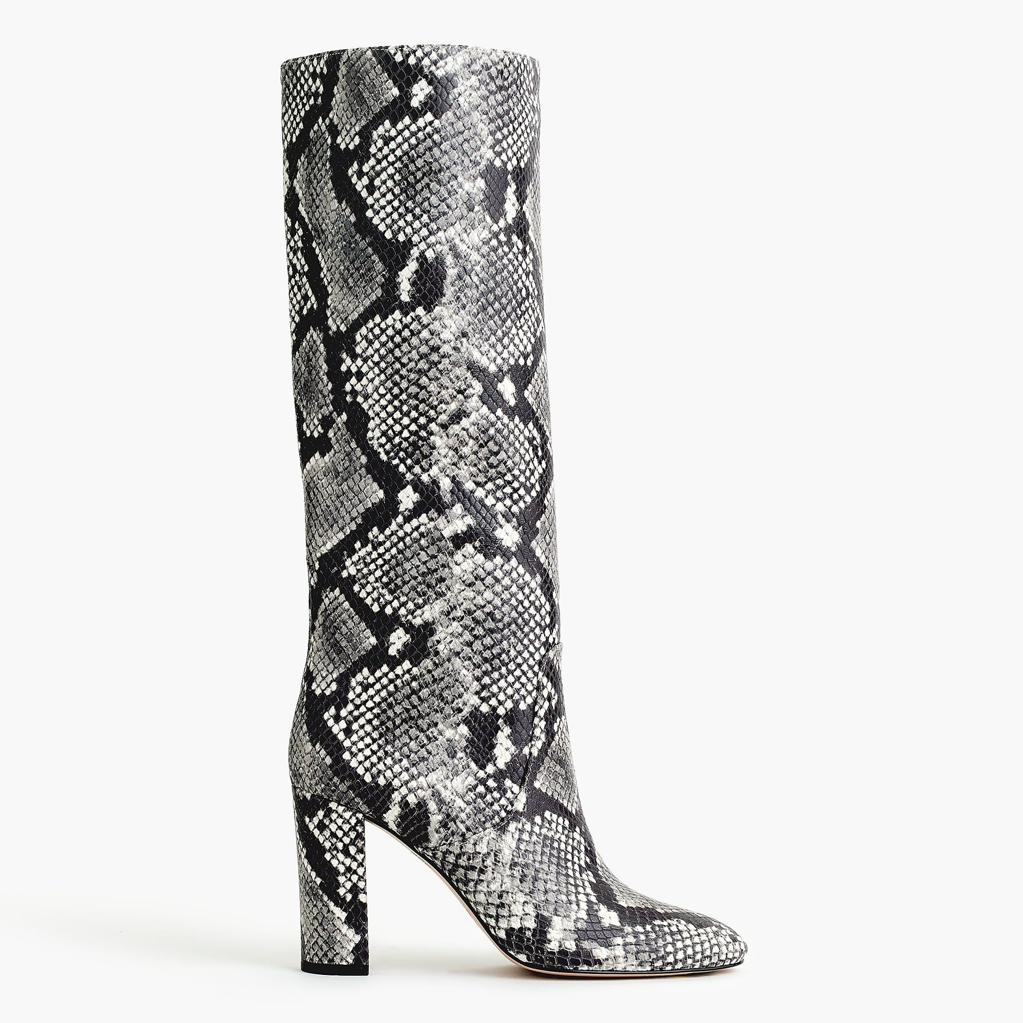 7c8d10ca058 Tall high-heel boots in faux snakeskin