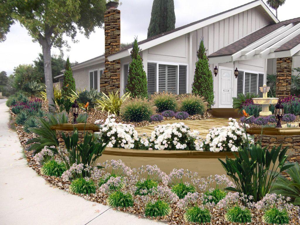 Elegant Drought tolerant Yard Design