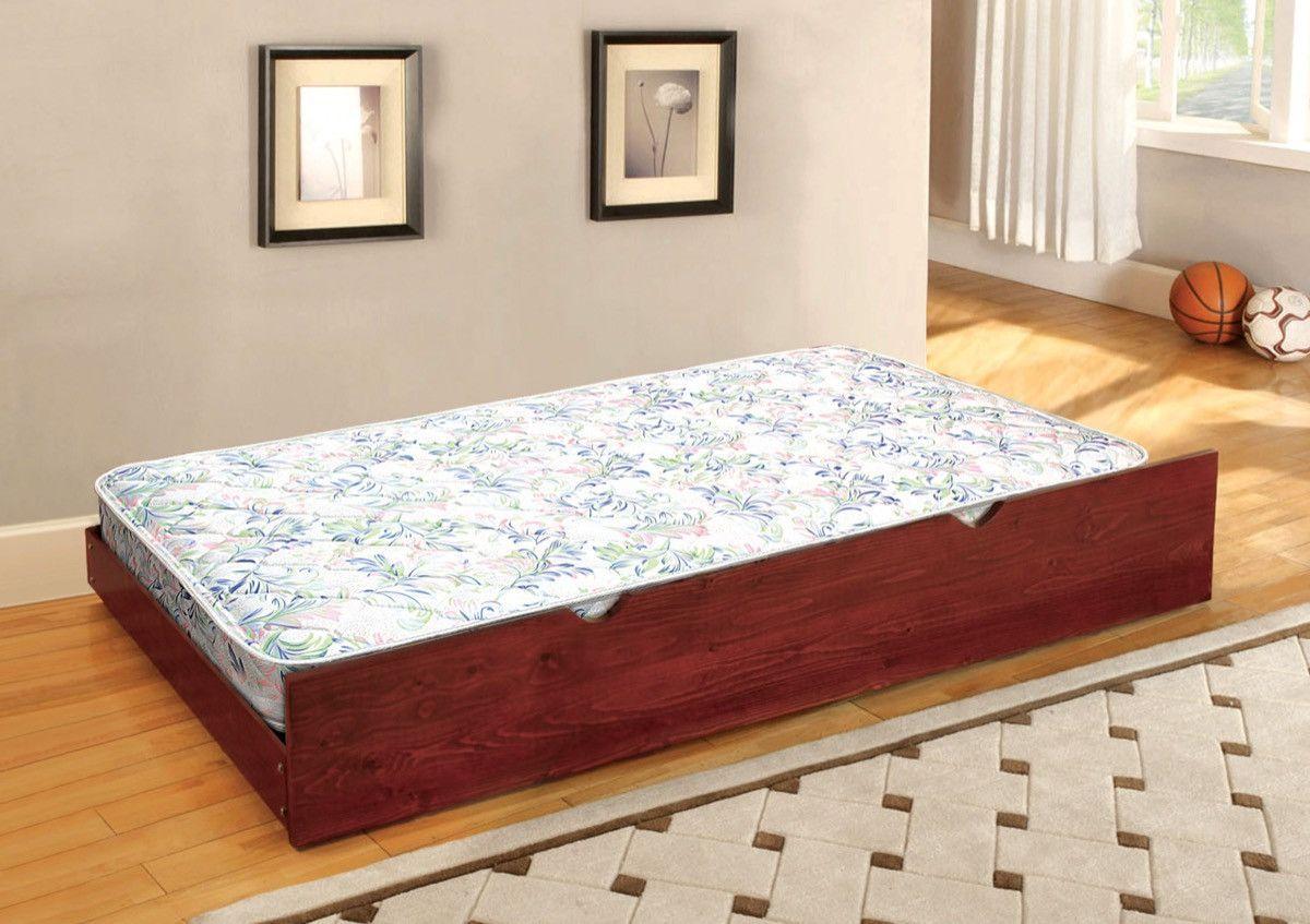 furniture of america cielo 6 inch trundle mattress white trundle