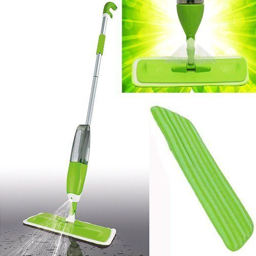 2 In 1 750ml Spray Mop Kit With Window Cleaner Reusable