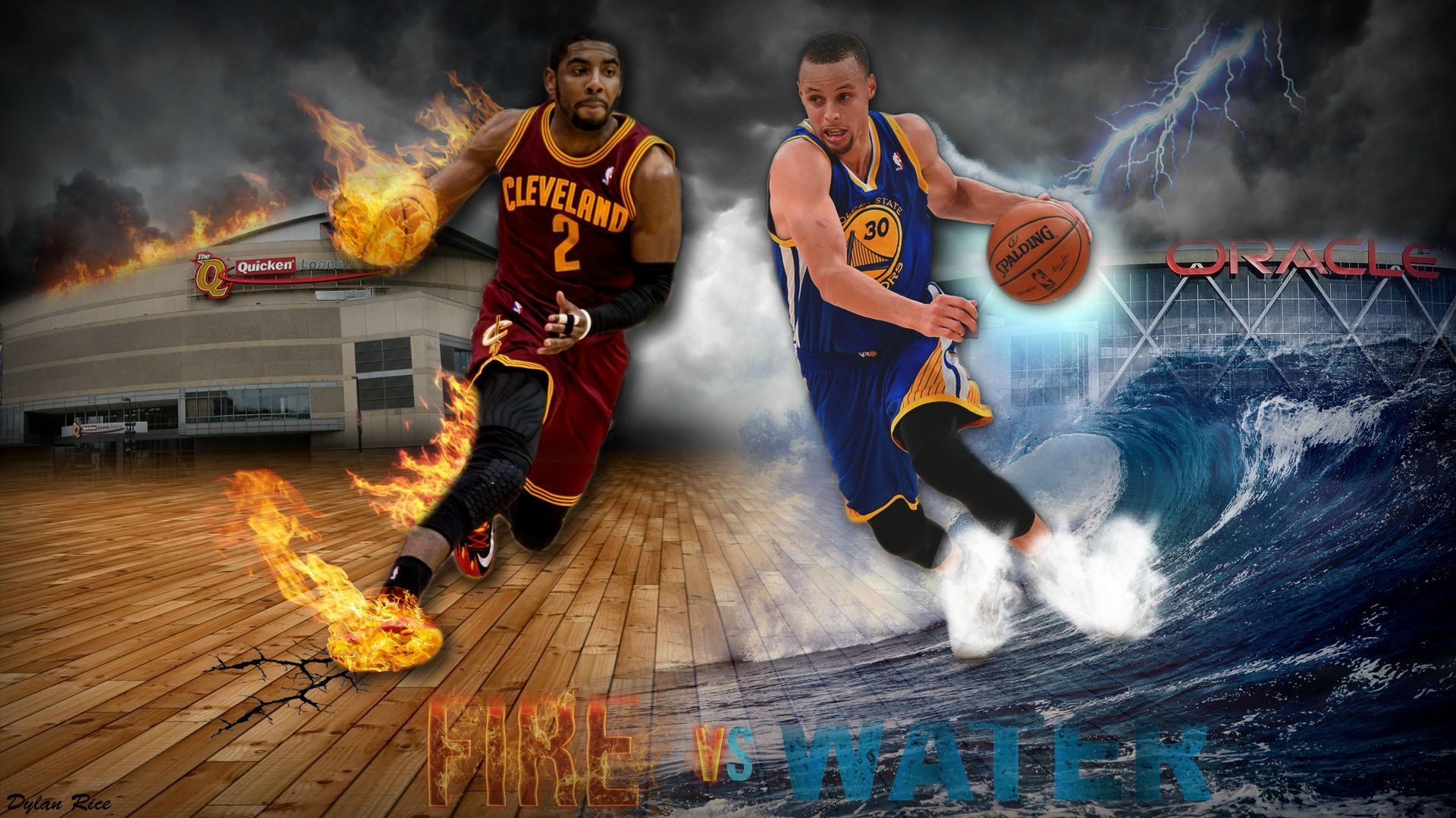 Fire Vs Water Stephen Curry Wallpaper HD #4697 Wallpaper