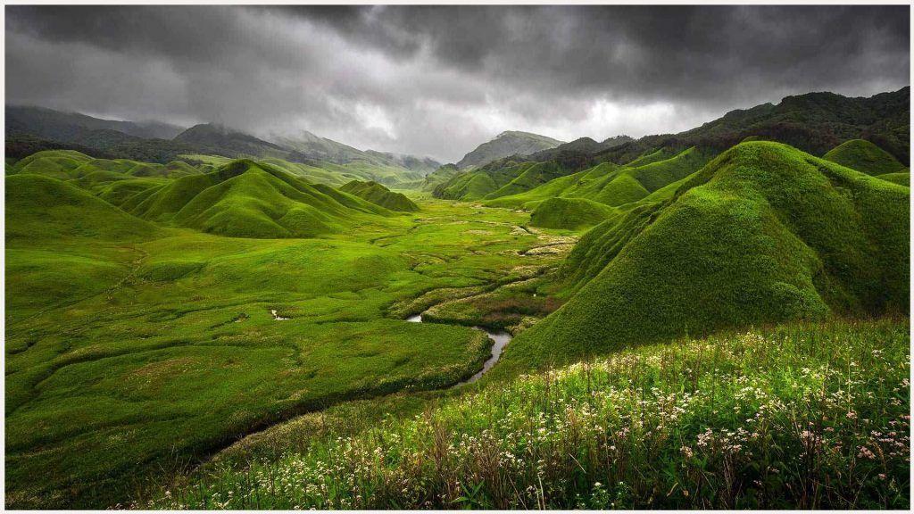 Green Hills Mountains Landscape Wallpaper Green Hills Mountains