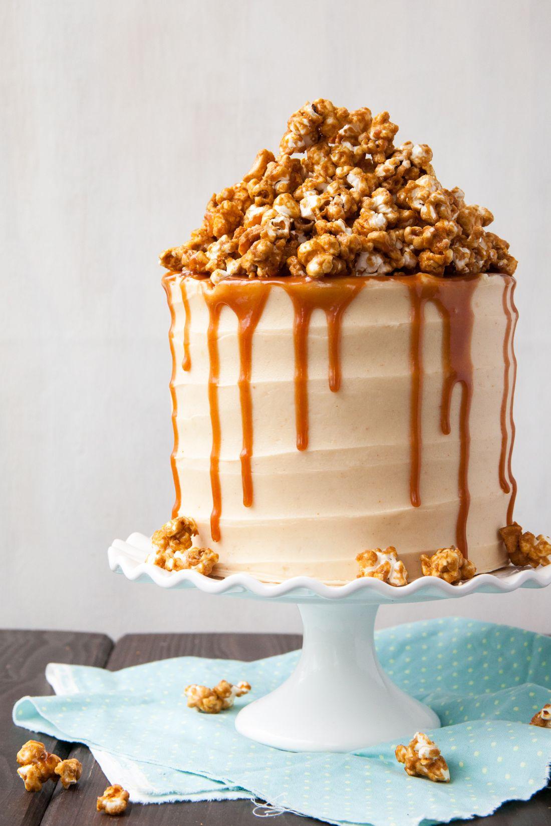 Style Sweet Popcorn Cake Caramel Popcorn Popcorn Cake Recipe
