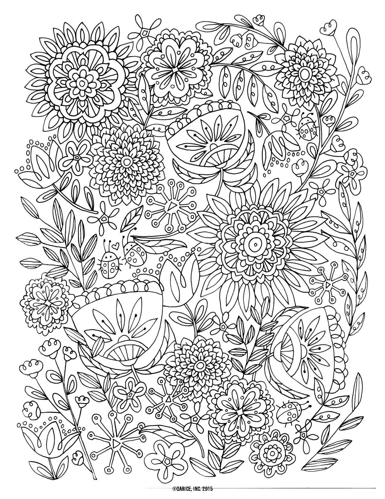 Colouring in for adults why - Free Floral Printable Coloring Page From Filthymuggle Com Adult Coloring Page Pinterest Floral Free And Adult Coloring