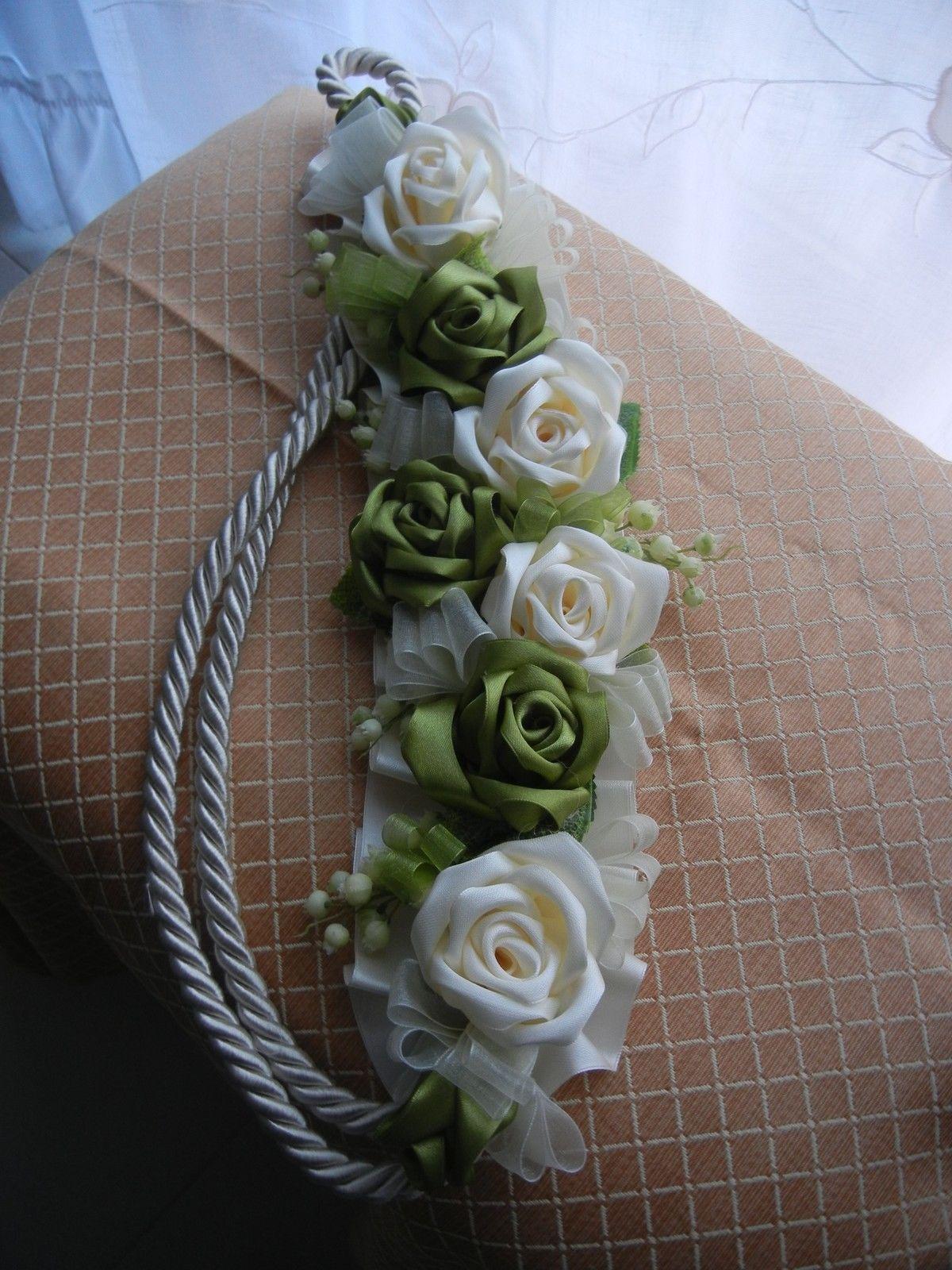 Embrasse fermatenda reggitenda artigianale rose di raso for Decorazioni tende