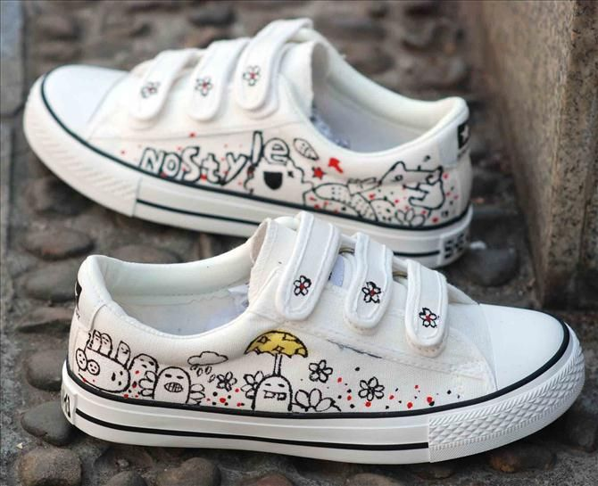 separation shoes fb3cb 3ff47 You can create beautiful designs with these DIY shoes ideas. We re offering  you to make glamorous sneakers with black kitten silhouettes and paws that  are