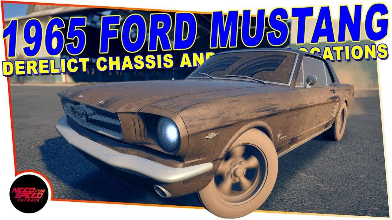 Derelict 1965 ford mustang need for speed payback chassis parts loca