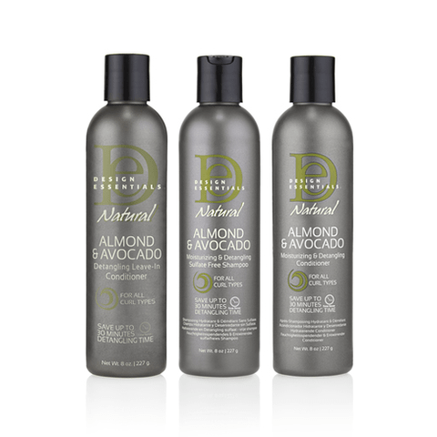 Design Essentials Almond Avocado Moisturizing And Detangling Collection Cosmetics Of Colour In 2020 Design Essentials Hair Products Hair Care Conditioner Shampoo Design