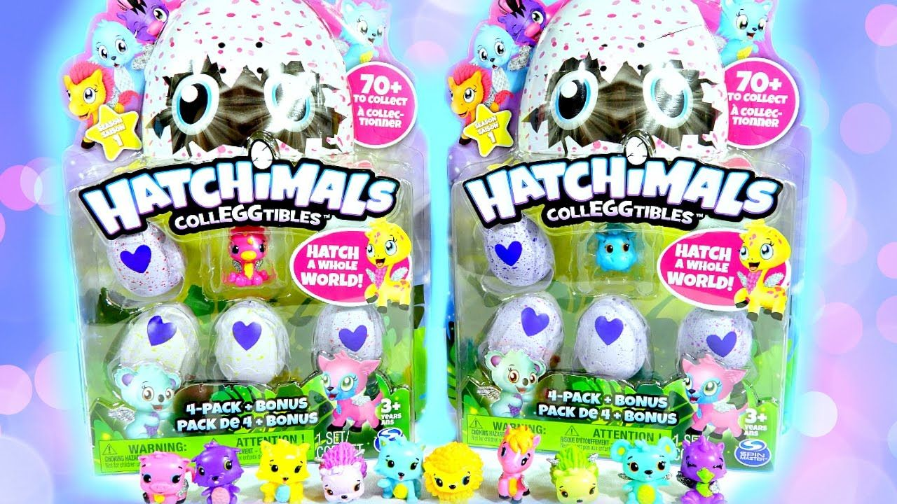 Hatchimal CollEGGtibles 4 packs with My Collection Tour
