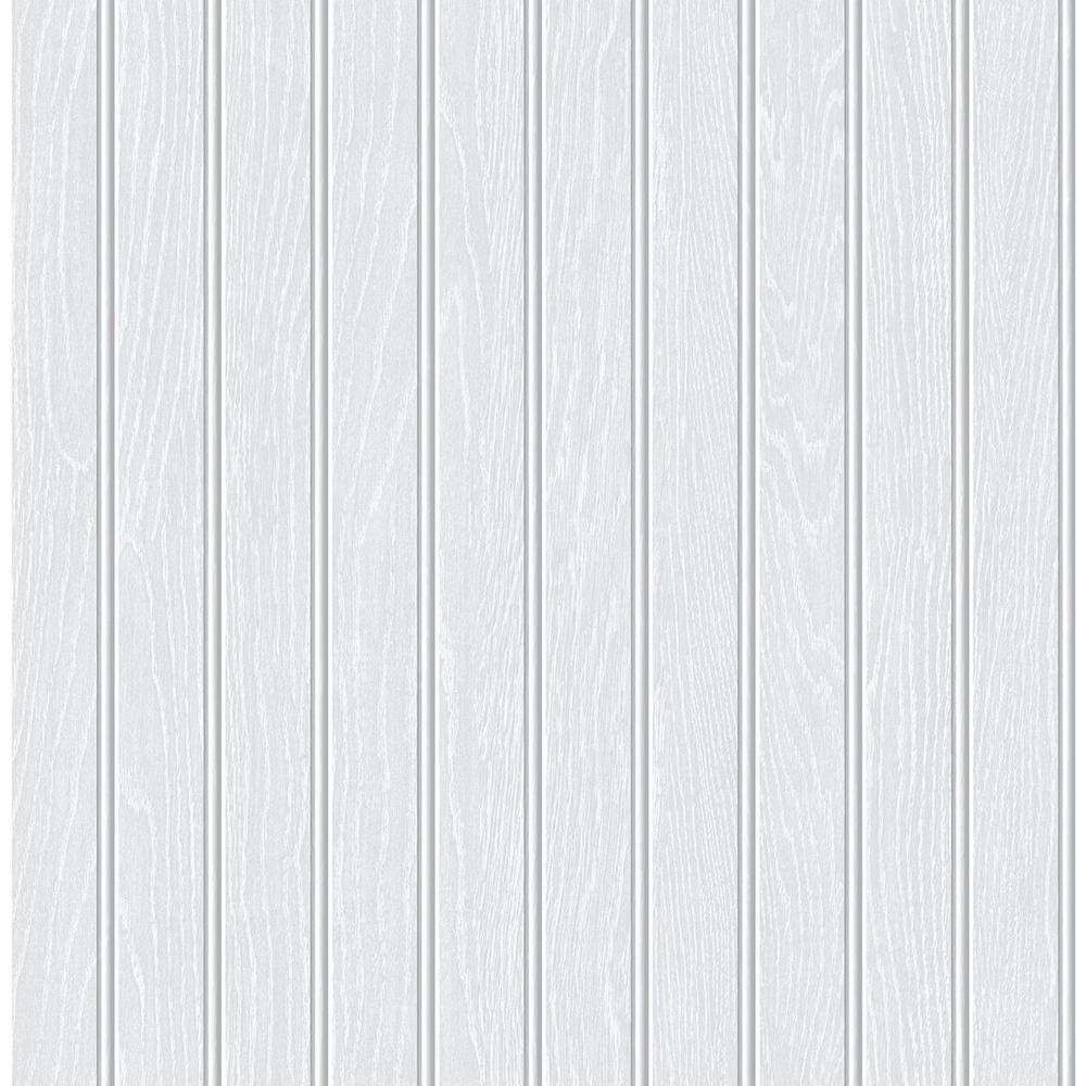 Unbranded Petaluma Beadboard 18 In X 20 5 In Peel And Stick Wallpaper Wqnw35800 The Home Depot Beadboard White Beadboard Peel And Stick Wallpaper
