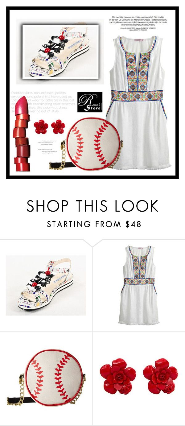 """RinaStore #55 / III"" by amra-sarajlic ❤ liked on Polyvore featuring Calypso St. Barth, Betsey Johnson, Chanel, NARS Cosmetics, Balenciaga, rinastore and rinasboutique"
