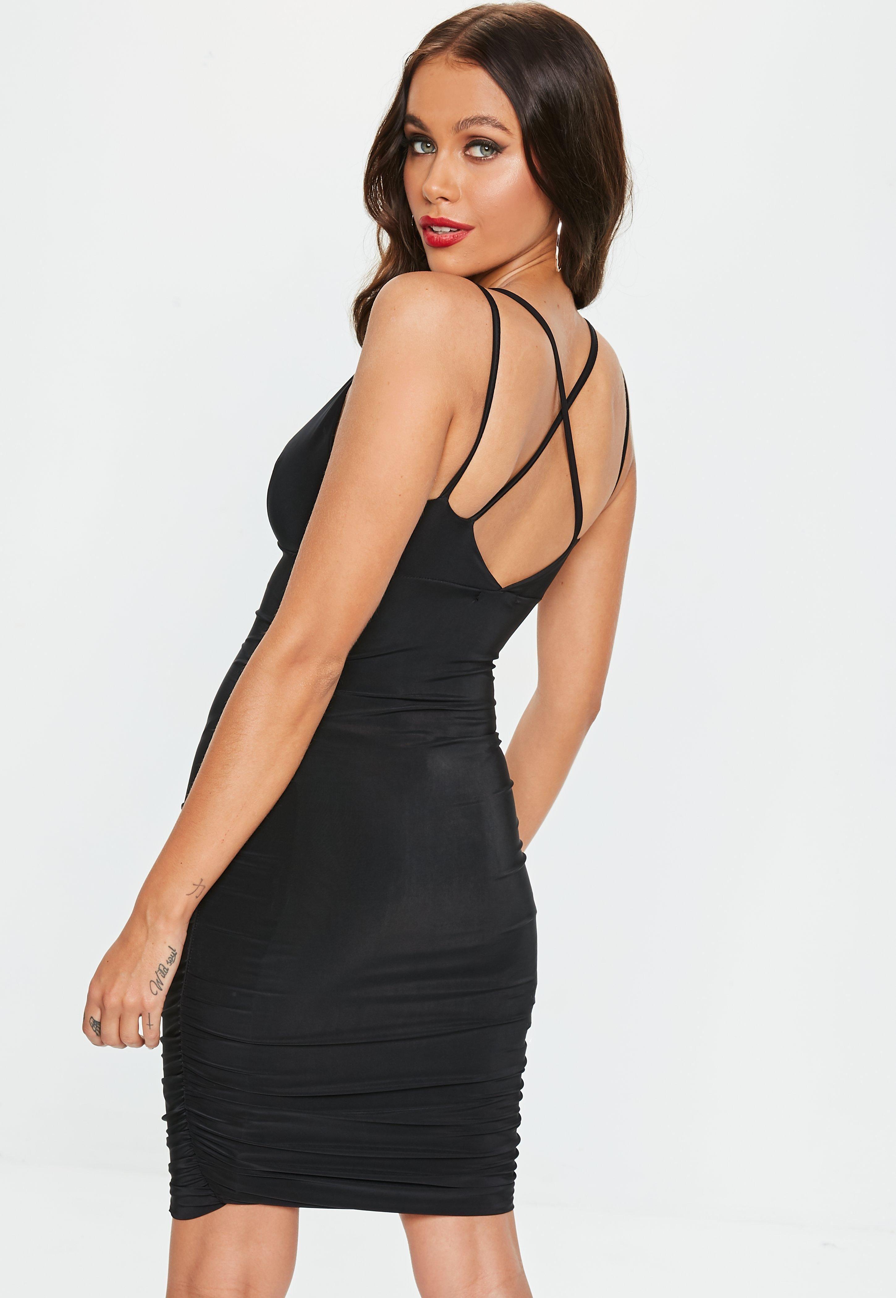 294267c0de Black Ruched Side Mini Dress  Sponsored  Ruched