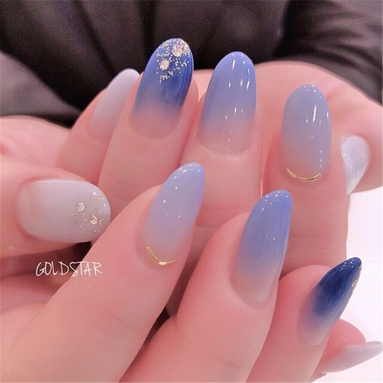 40 Cute Star Nail Art Designs For Women 2019 Page 15 Of 40 Chic Hostess Bridal Nail Art Star Nail Art Gel Nail Art