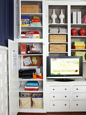 Media Room Storage Ideas