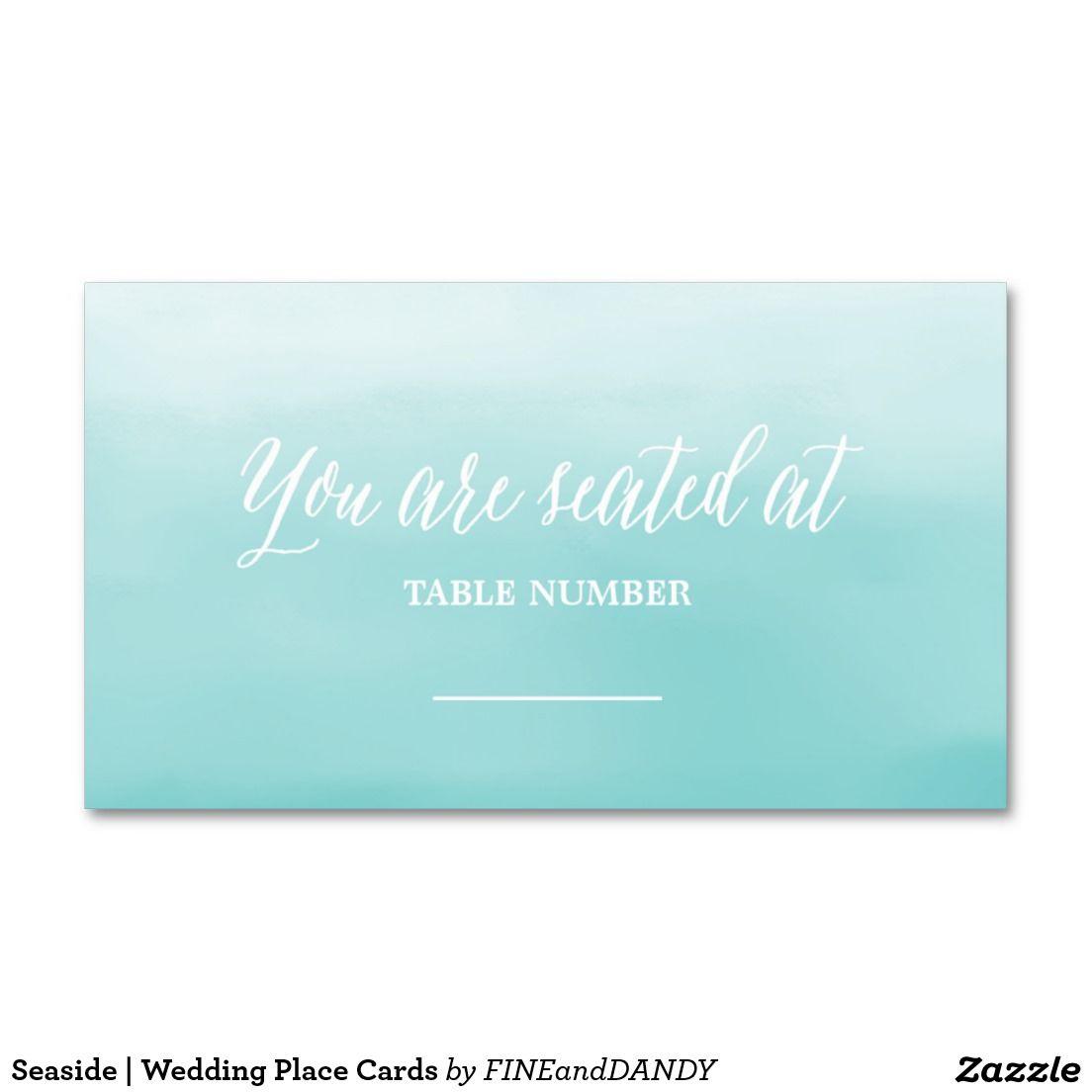 Seaside Wedding Place Cards Wedding Place Cards Seaside Wedding