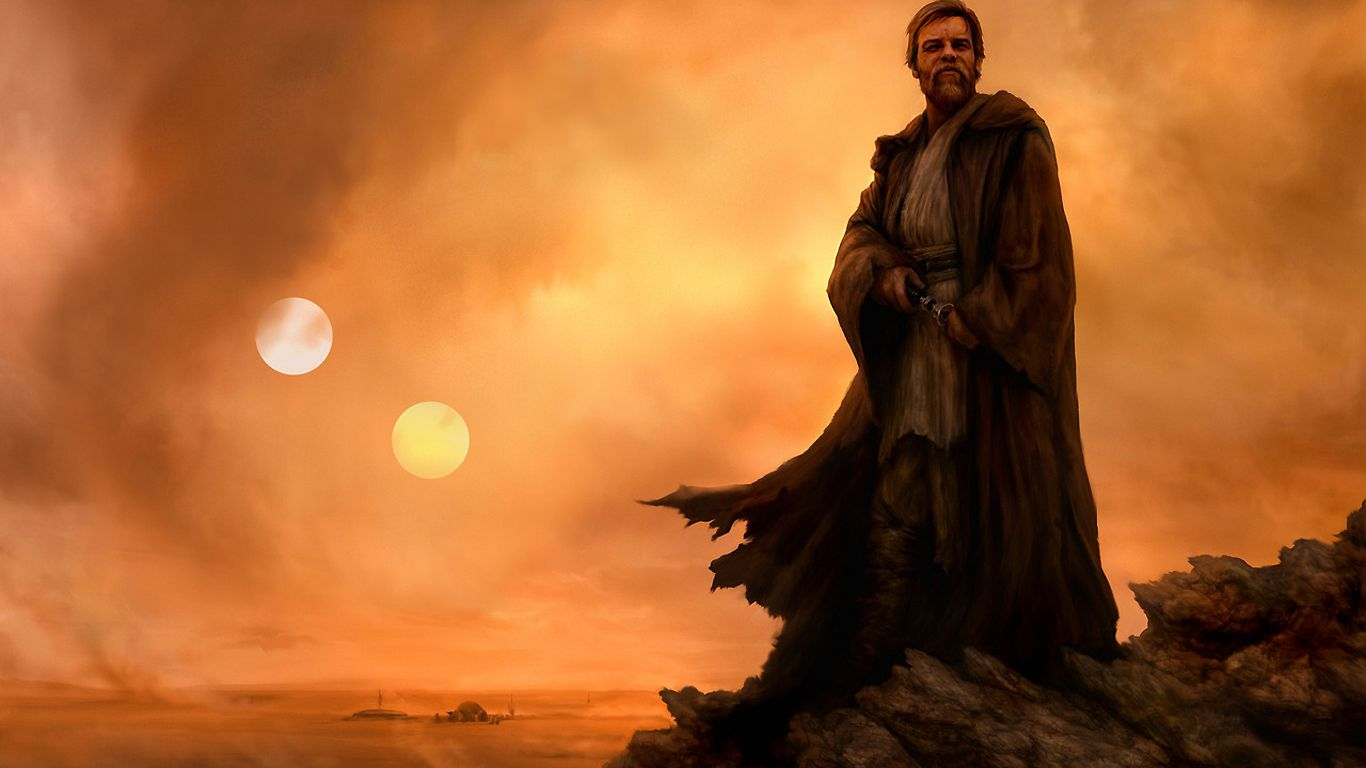 Ben Kenobi and the two suns of Tatooine