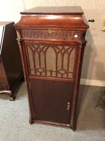 Exceptionnel Edison Phonograph, Record Player Early 1900s, Chippendale Cabinet