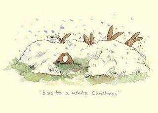 Anita Jeram for Christmas bunnies in the snow
