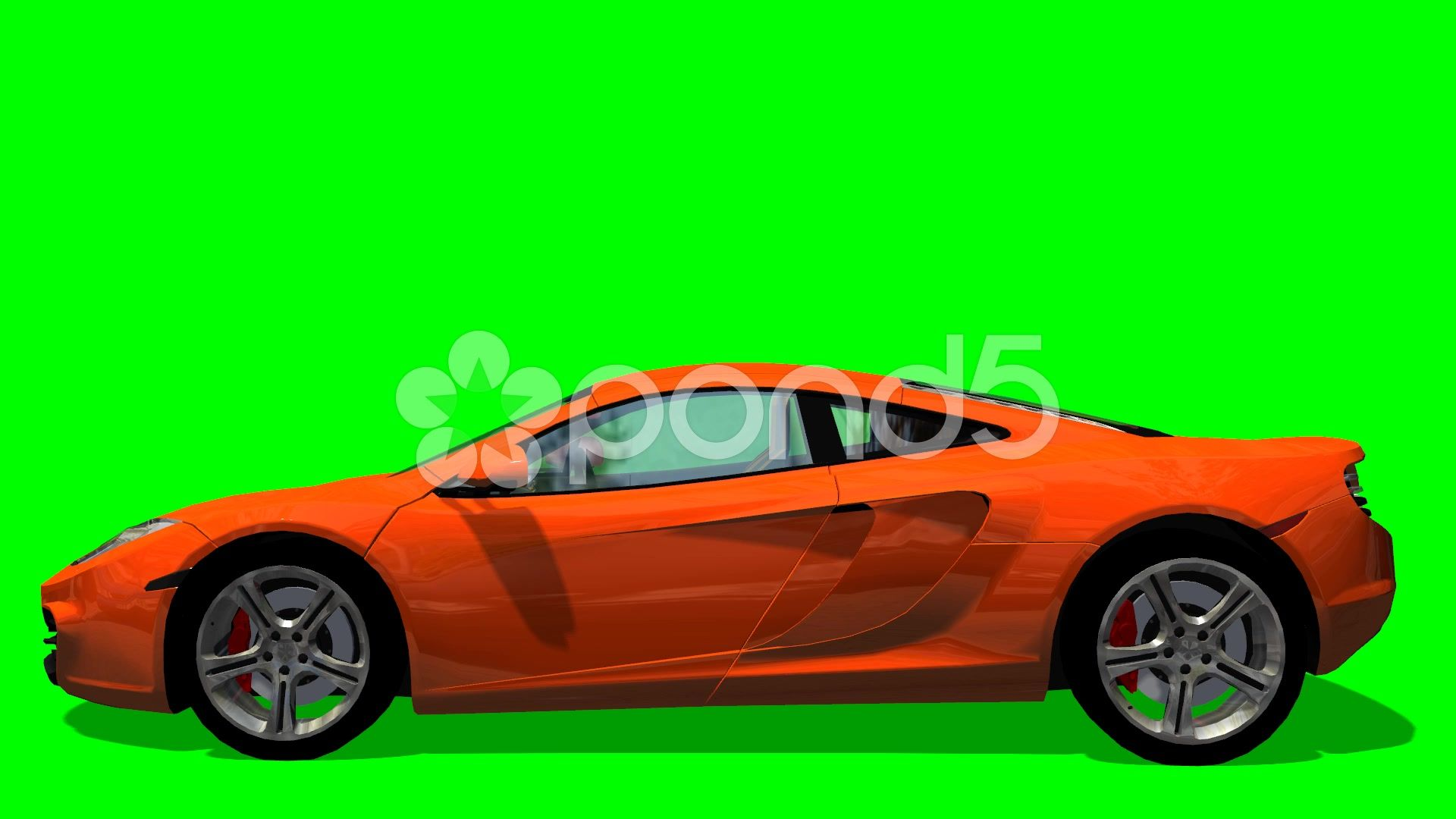 Sports Racing Car Drive Animation Green Screen Stock Footage Ad