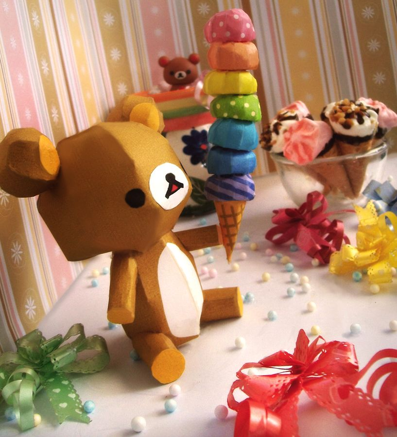 Rainbow Ice Cream Delight ~ Rilakkuma by ~randomarts09