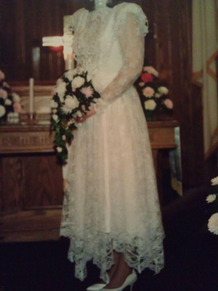 Vintage Jessica McClintock Wedding Dresses Tea Length