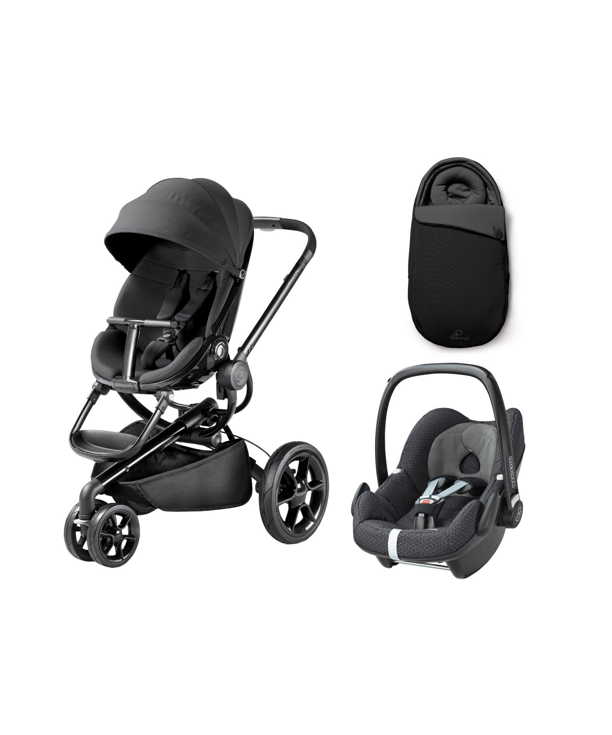 Quinny Mood Pushchair with Pebble Car Seat Black