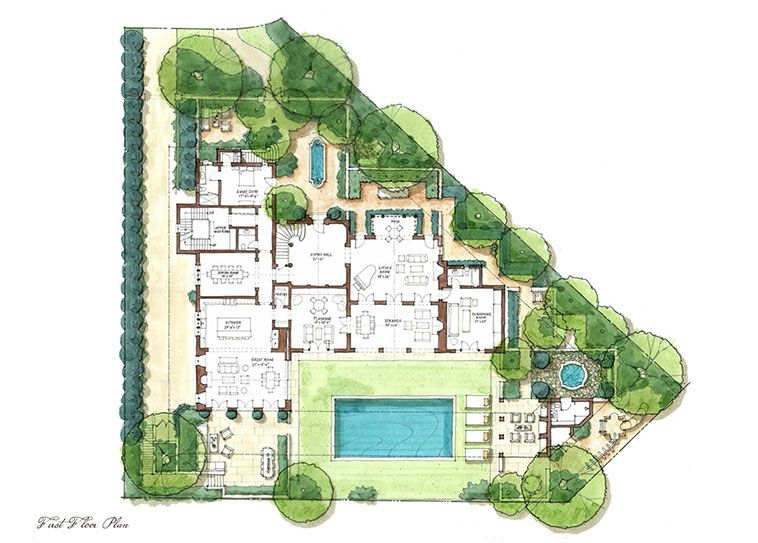 Park Haciendas Chileno Bay Golf Beach Club Luxury House Plans Bungalow Floor Plans Dream House Plans
