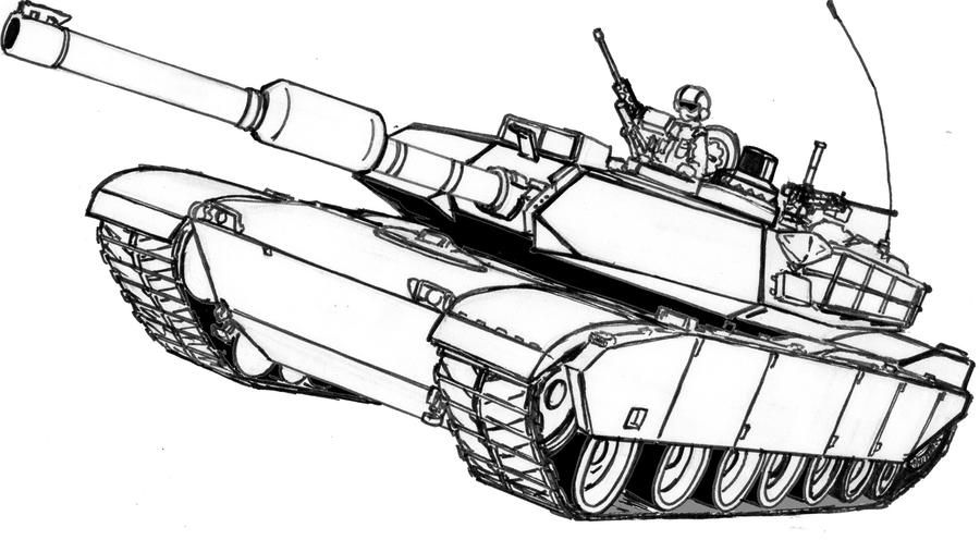 M1a2 Abrams By Thomchen114 On Deviantart Tank Drawing Handwork Embroidery Design Abrams