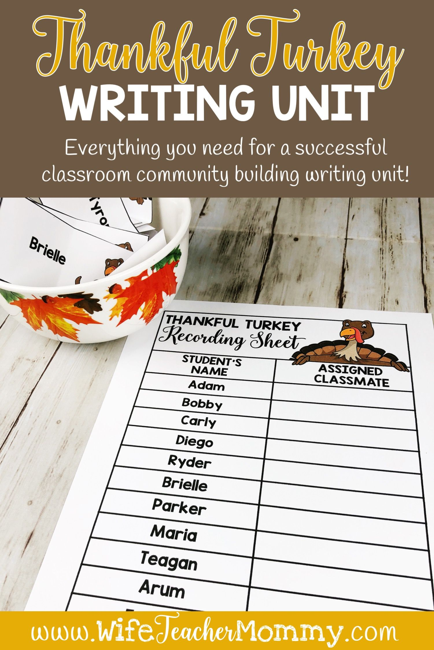 This Thanksgiving Writing Unit Is Perfect For Your