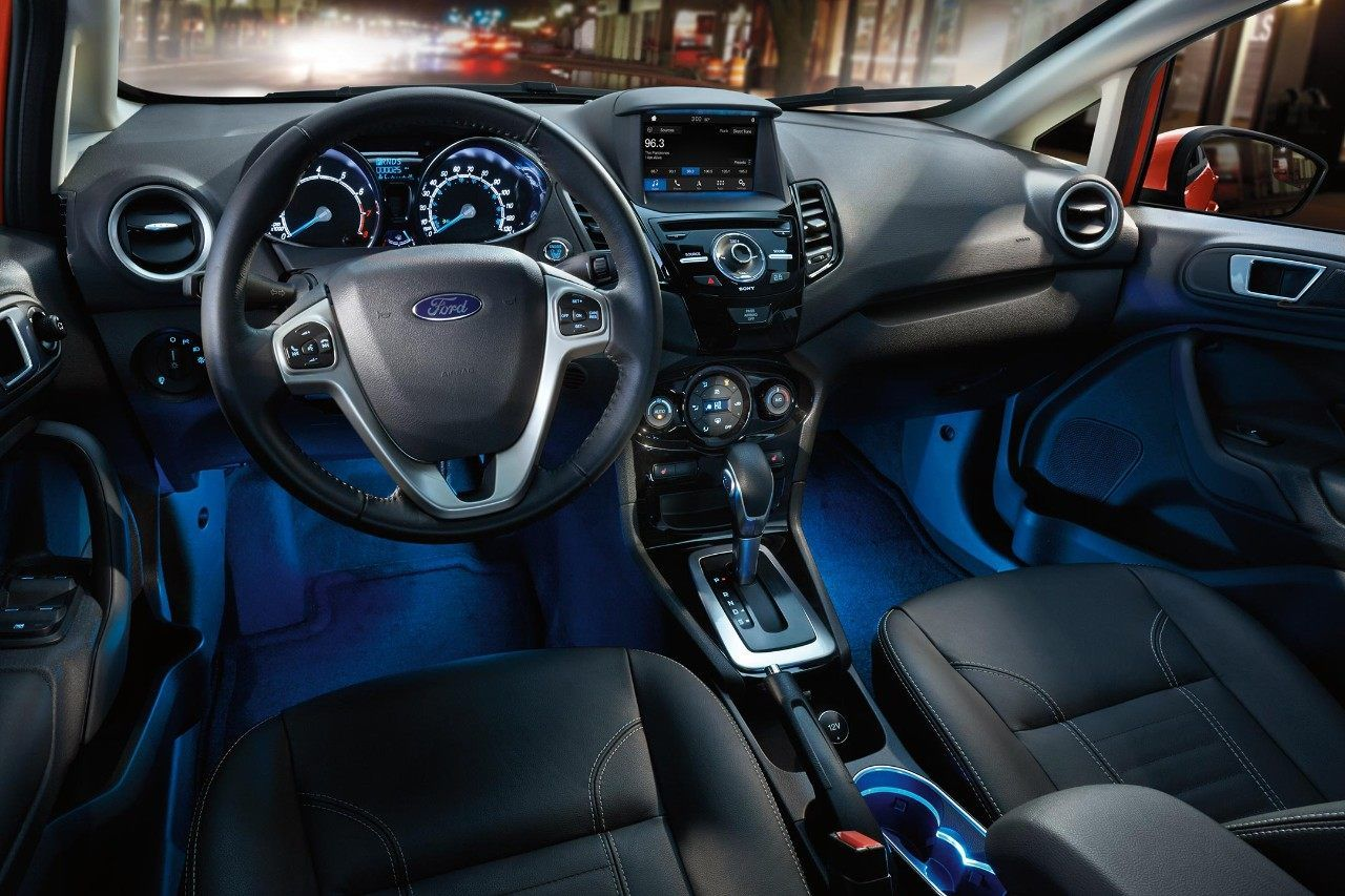 2018 Ford Fiesta Titanium Interior With Leather Trimmed Seats And