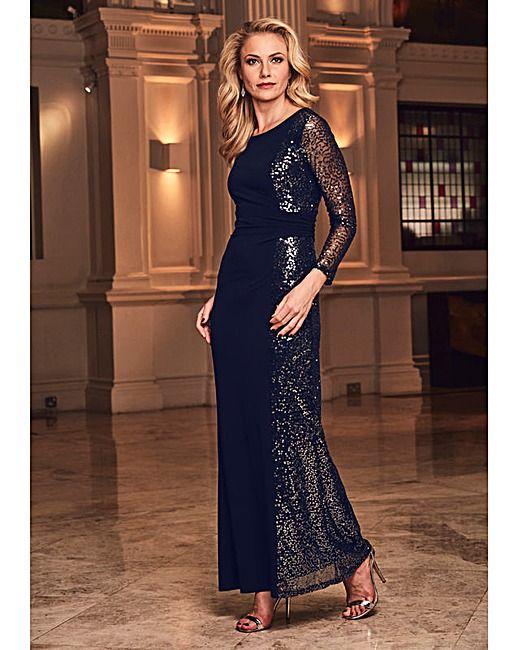Joanna Hope Sequin Panel Maxi Dress   Fifty Plus   Oooooh, I ...
