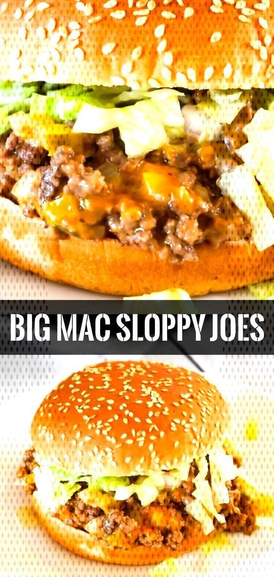 Big Mac Sloppy Joes are an easy ground beef dinner recipe perfect for weeknights. These sloppy joes