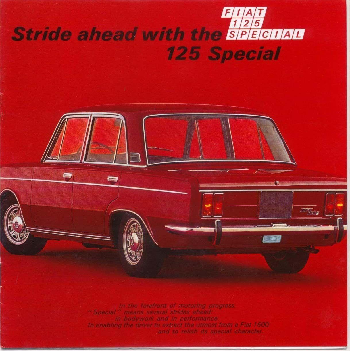 Fiat  Special  Original Uk Sales Brochure Pub No