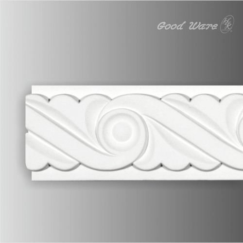Review Polyurethane white decorative chair rail moulding Elegant - Modern white crown molding Simple