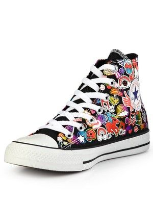 c4ad276c6616 Converse Chuck Taylor All Star Sticker Print Hi-Top Trainers (€72) ❤
