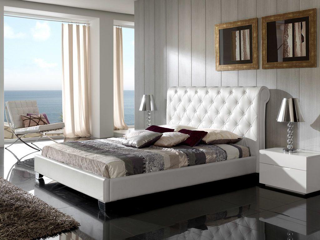 cama moderna tapizada salou en