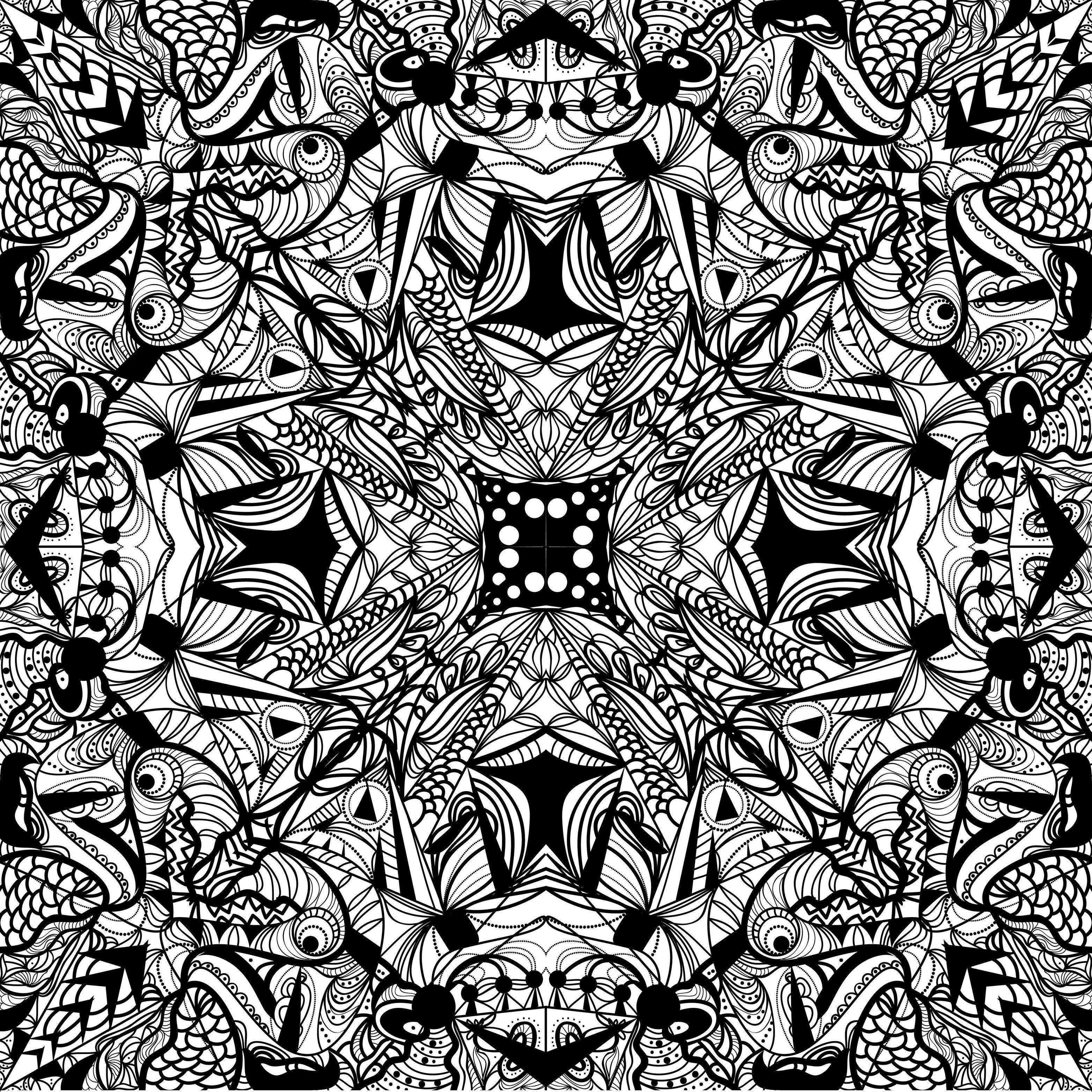 Coloriage adulte motif abstrait motif mojo black pattern pattern et pattern wallpaper - Motif oriental a imprimer ...