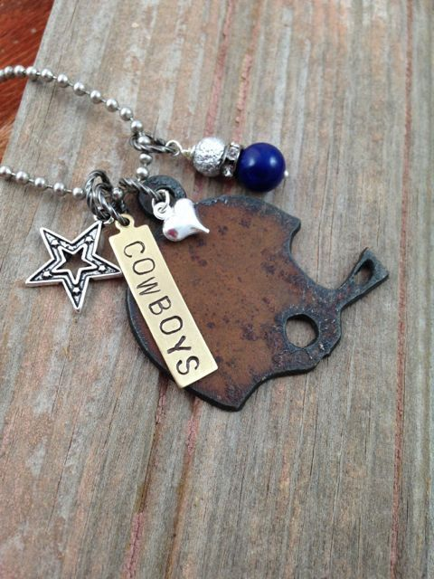 Dallas Cowboy Necklace Football Necklace For Fans Great