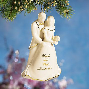 Personalized Bride Groom Ornament By Lenox