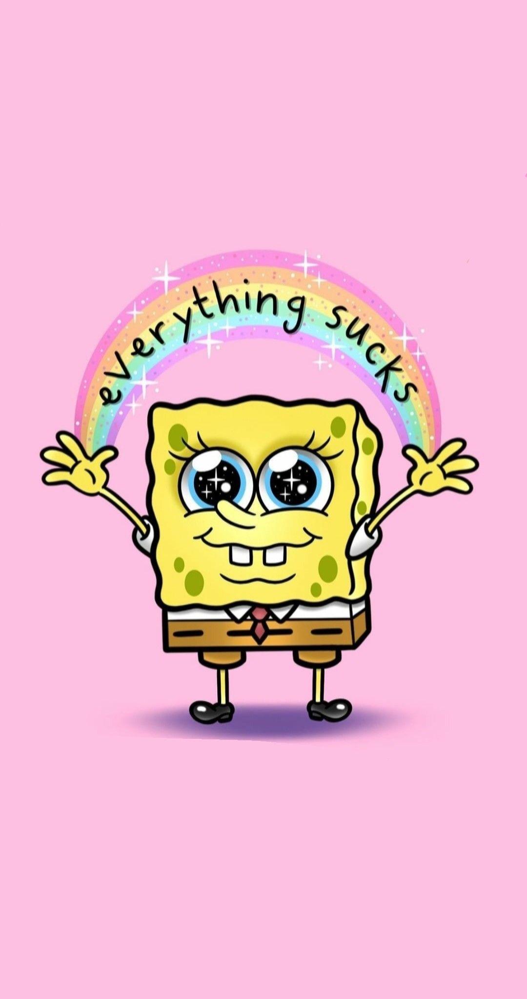 Cute Pink Spongebob Wallpaper Spongebob Wallpaper Spongebob Spongebob Memes