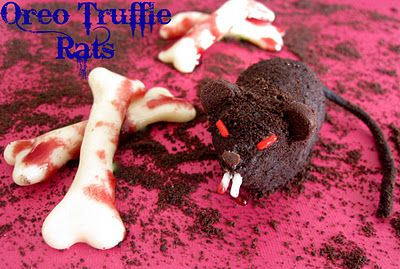 not for the squeamish; oreo truffle rats