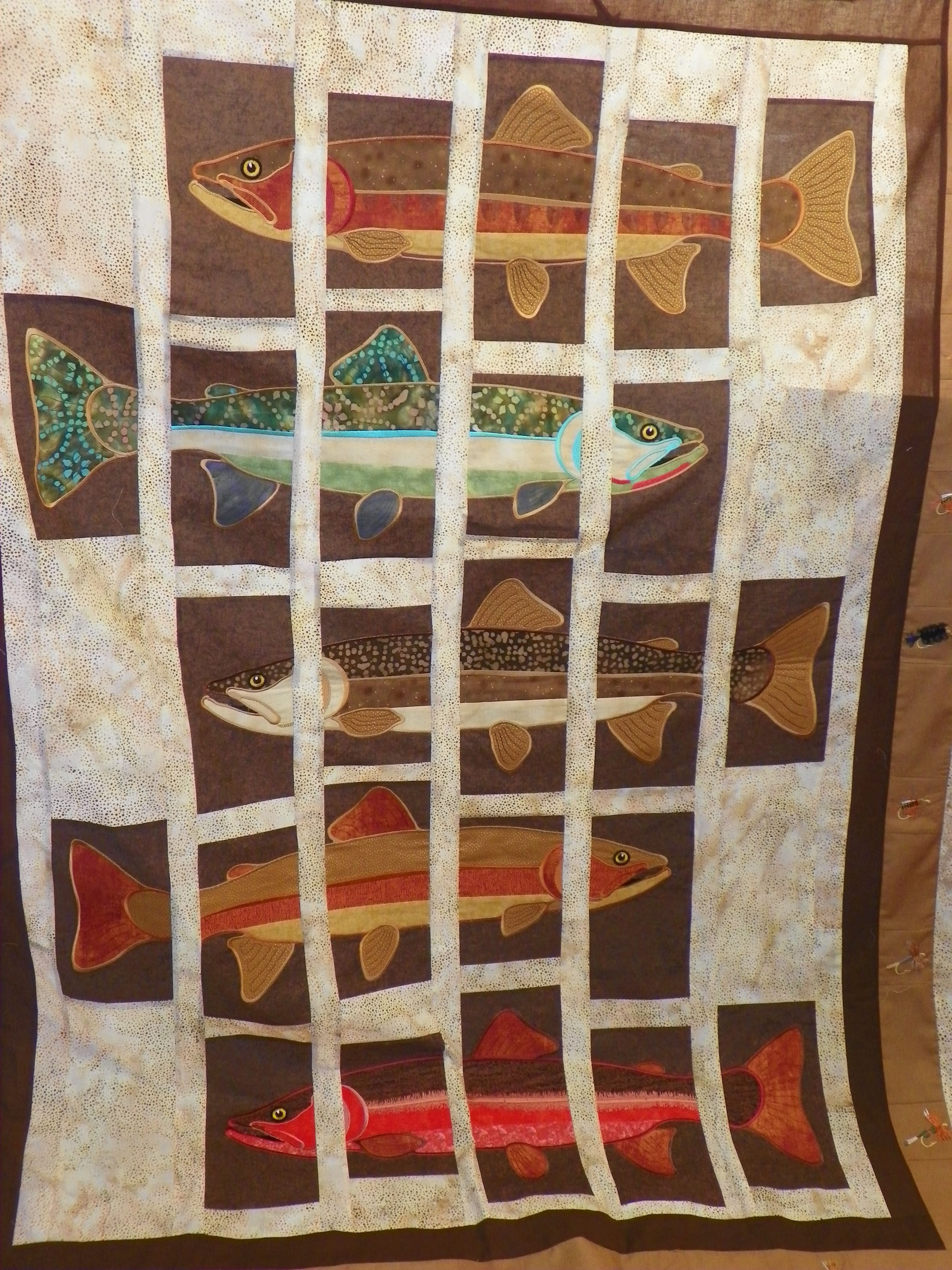 About Trout by Lunch Box Quilts | New Embroidery Designs ... : lunch box quilts - Adamdwight.com
